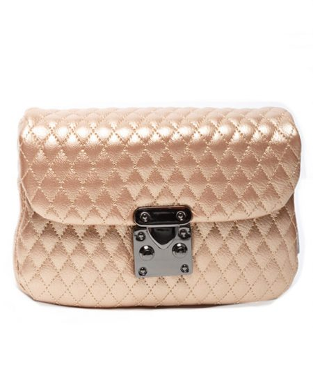belt bag metallic pink elena athanasiou