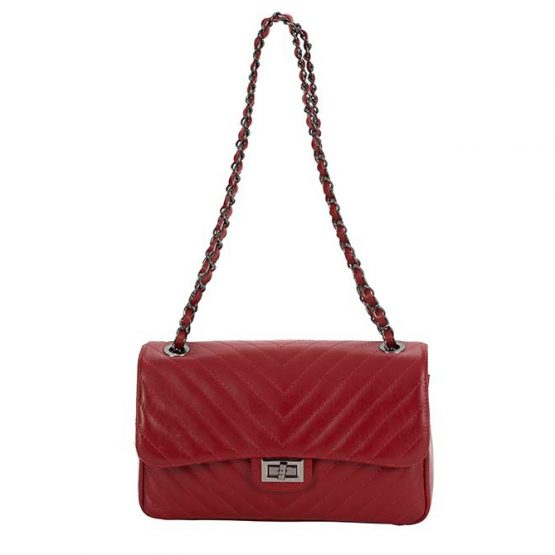 deep red bag