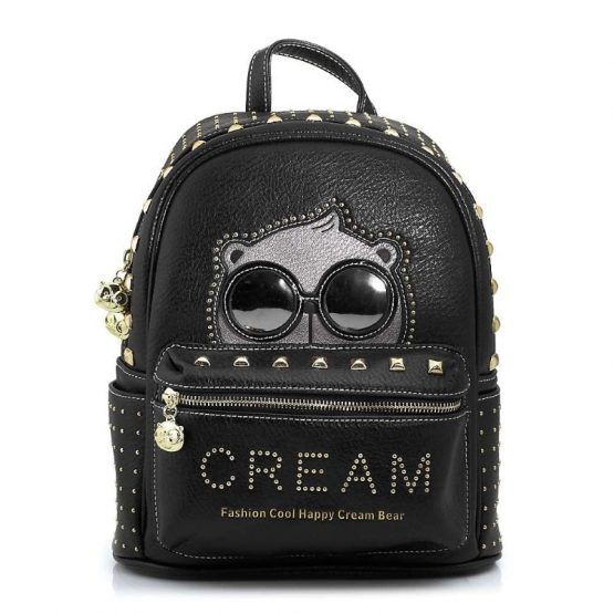 cream bear sakidio platis black