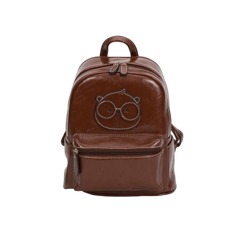 backpack cream bear brown-1