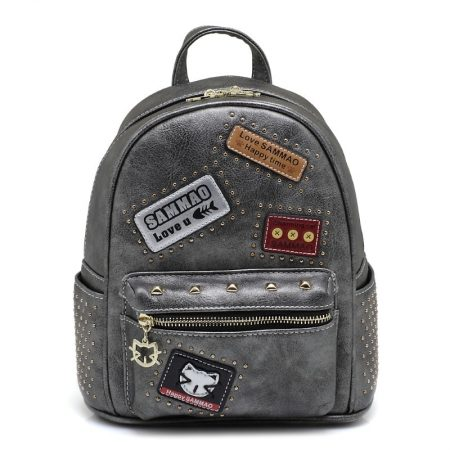 grey metallic backpack sammoa-1
