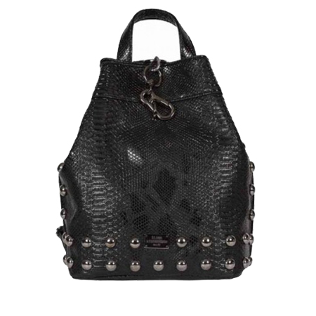 BACKPACK CROCO BLACK