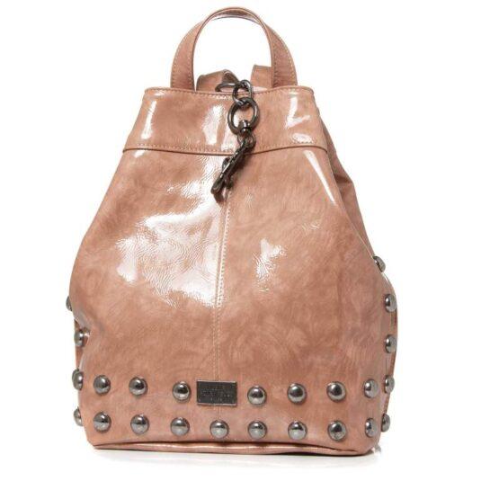 vinyl dusty pinl backpack ea bags