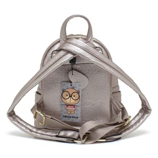 backpack cream bear silver-2