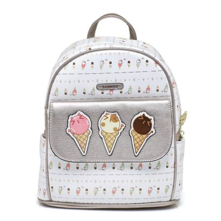 backpack white silver sammao