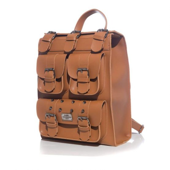 ΣΑΚΙΔΙΟ ΠΛΑΤΗΣ WILD HEART BACKPACK COGNAC-ELENA ATHANASIOU