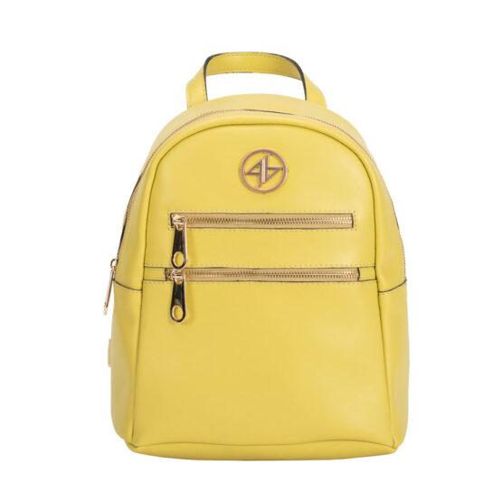 backpack yellow greek handmade