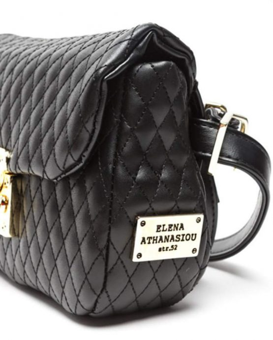 belt bag black gold ea-1