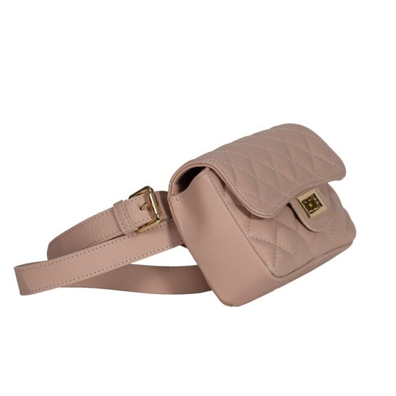 belt bag nude italian handmade-1