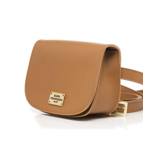 double belt bag cognac ea-1