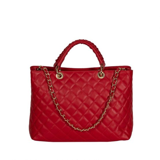 italian handmade bag red