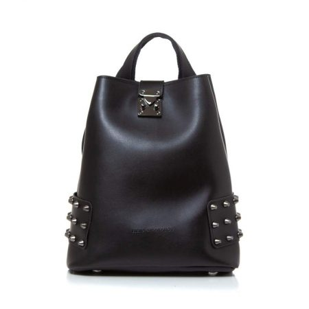 city lady backpack black