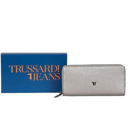 wallet silver trussardi jeans