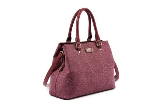 handbag-omou verde-burgundy