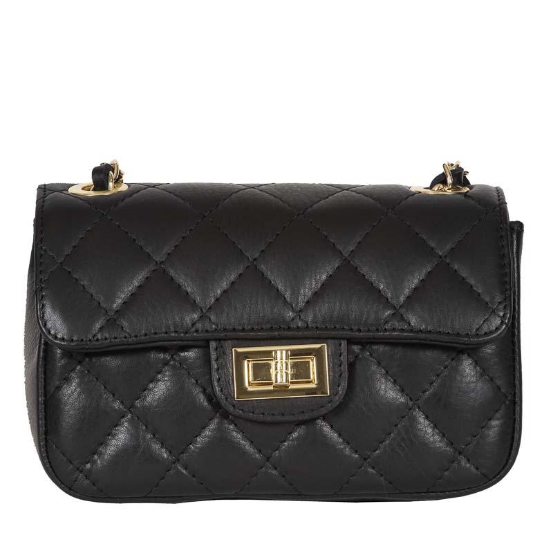 italian handmade bag black