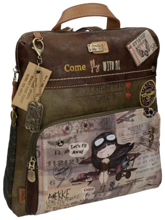 taupe backpack anekke
