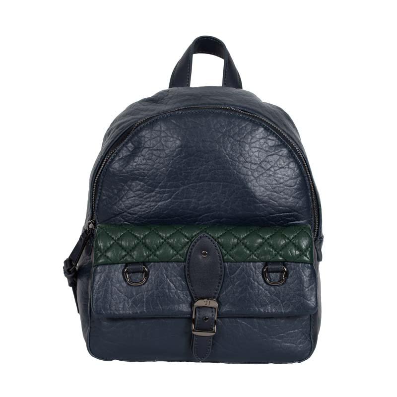 backpack blue trussardi