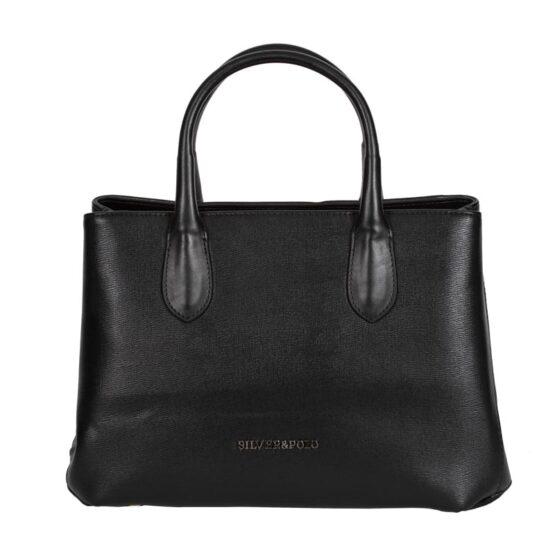 silver&polo handbag black