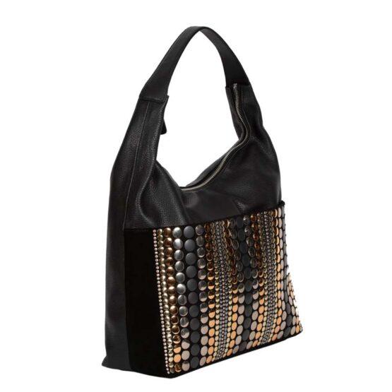LADIES BAG WILD ΤΣΑΝΤΑ ΩΜΟΥ-1404019-BLACK