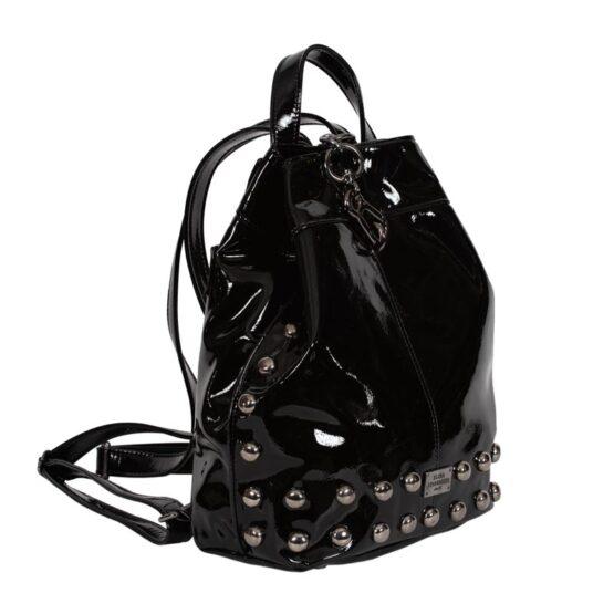 vinyl black backpack ea-1