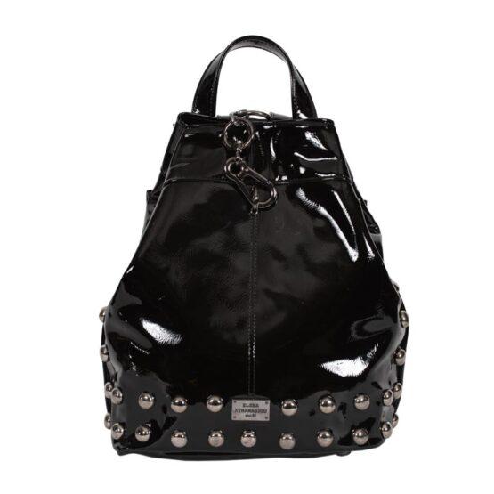 vinyl black backpack ea