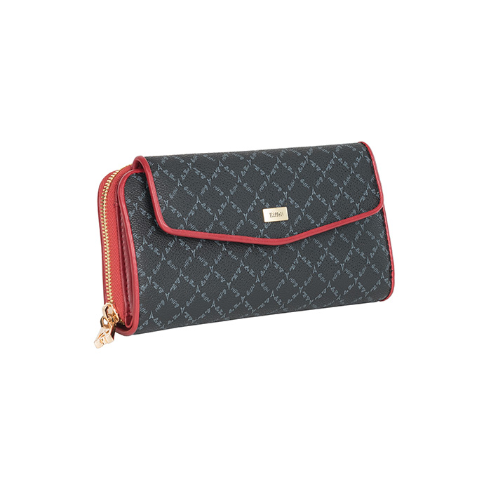 wallet black red