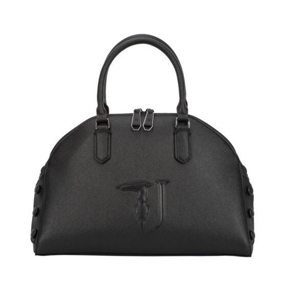 trussardi jeans handbag black