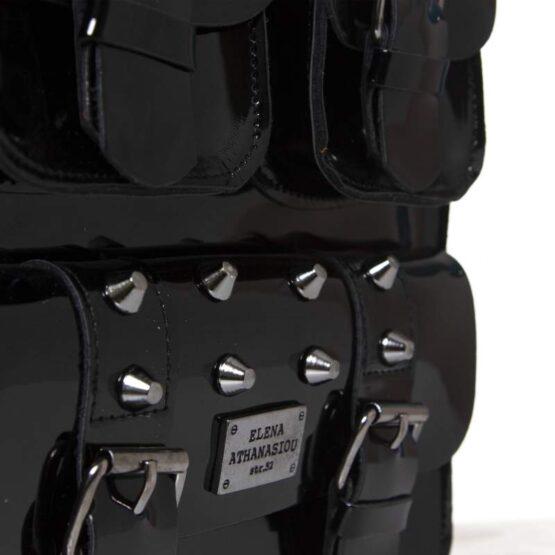 wild vinyl black backpack ea bags-2