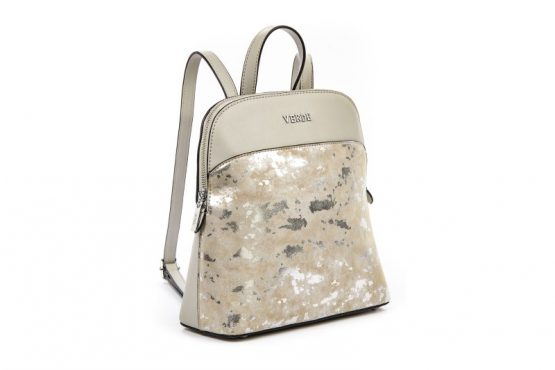 silver backpack verde
