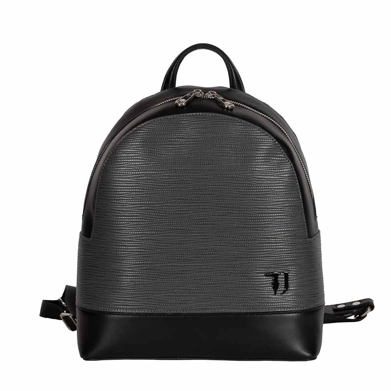 trussardi jeans backpack grey