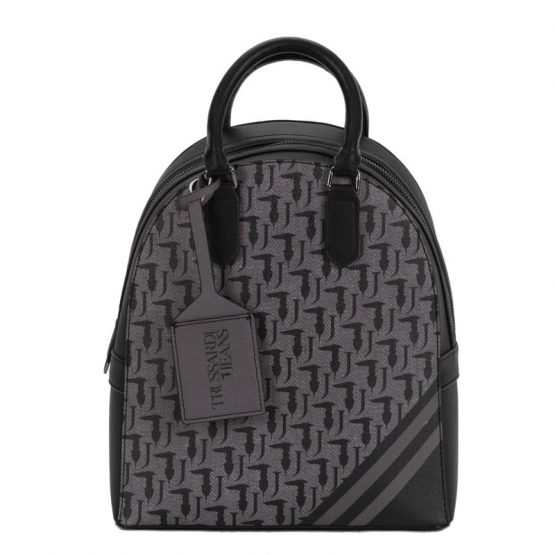 black grey backpack trussardi