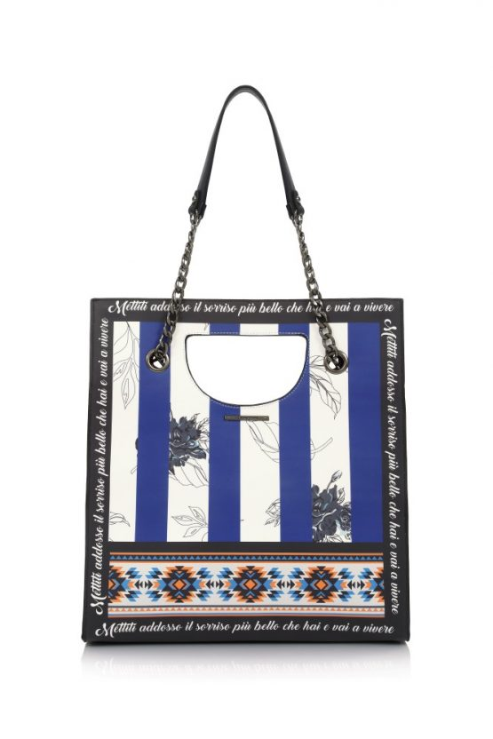 tsanta market bag dark blue le pandorine