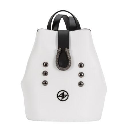 backpack greek handmade aspro-mavro