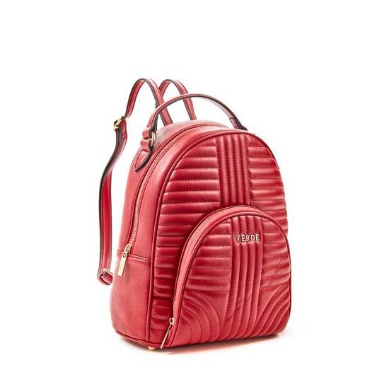 backpack red verde