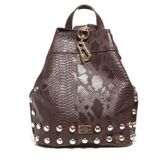 bakpack croco pattern chocolate