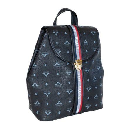 black la tour eiffel backpack