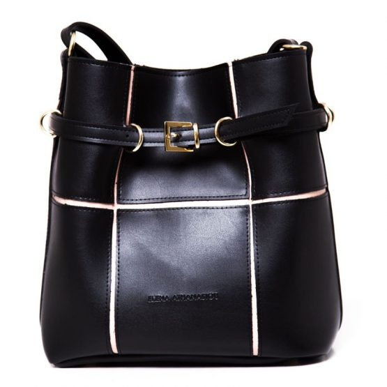 puzzle bag black large elena athanasiou
