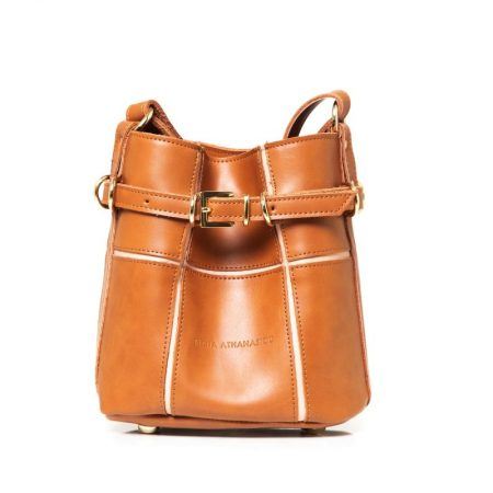 puzzle bag cognac small