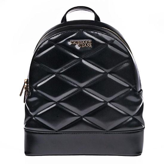 backpack trussardi jeans black
