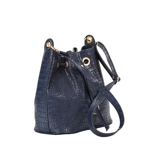 kroko blue pouch bag-1
