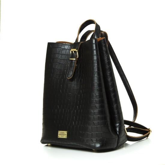 backpack croco pattern black-1