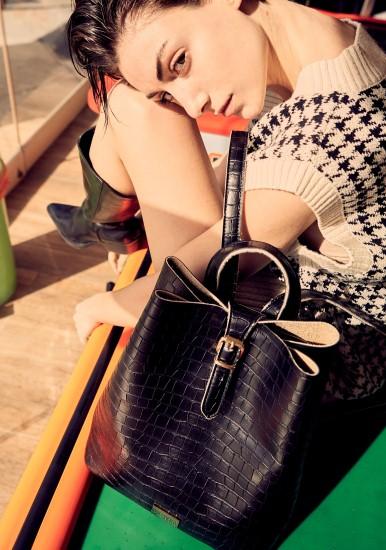 backpack croco pattern black-2