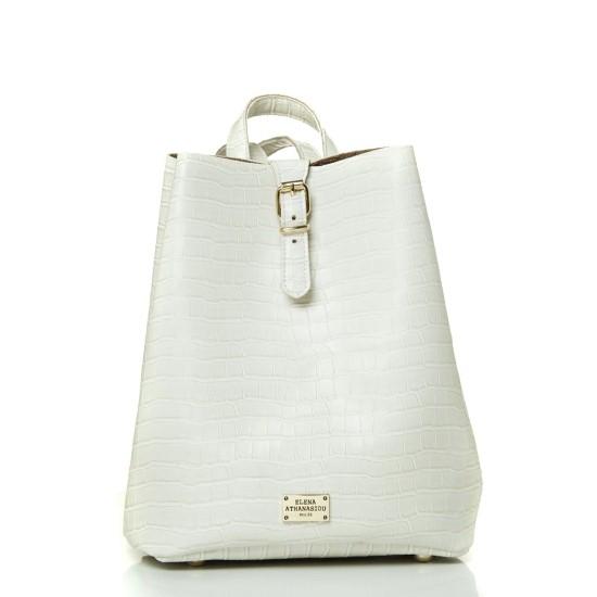 croco pattern white ea bags