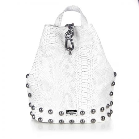 backpack white ea bags nikel
