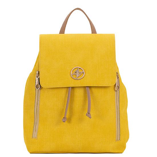 backpack κιτρινο greek handmade