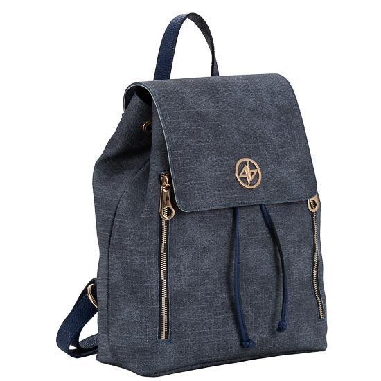 backpack blue jean greek handmade-1