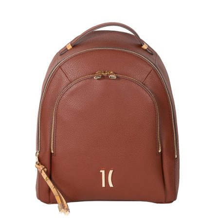 cognac backpack alviero