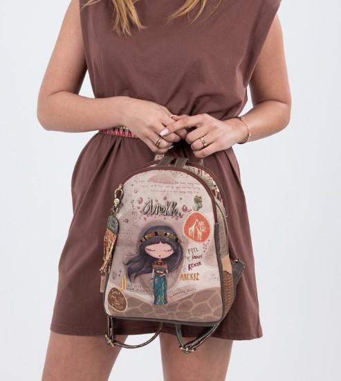 AN brown beige backpack-3