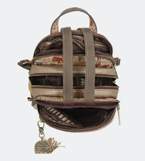 AN brown beige backpack-4 (2)