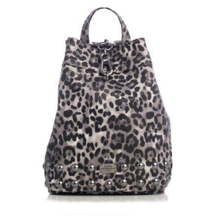 backpack animal print black